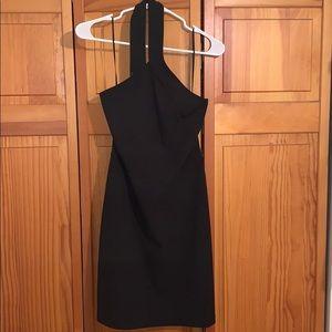Express formal black wrap neck dress